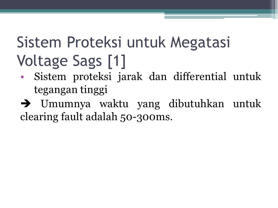 Sistem Proteksi untuk Megatasi Voltage Sags [1]